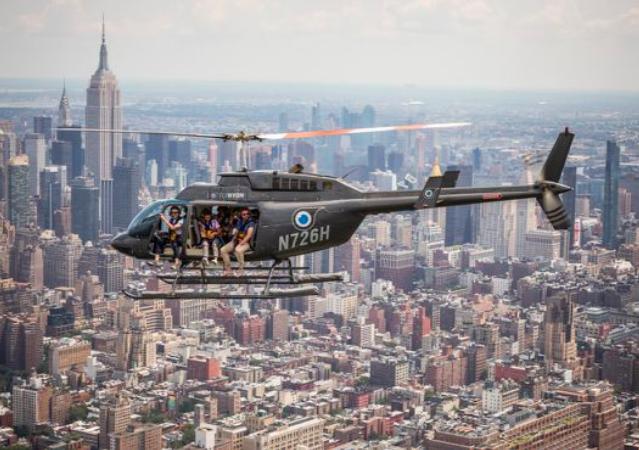 Вертолетный тур в Нью-Йорке, на вертолете без дверей 5