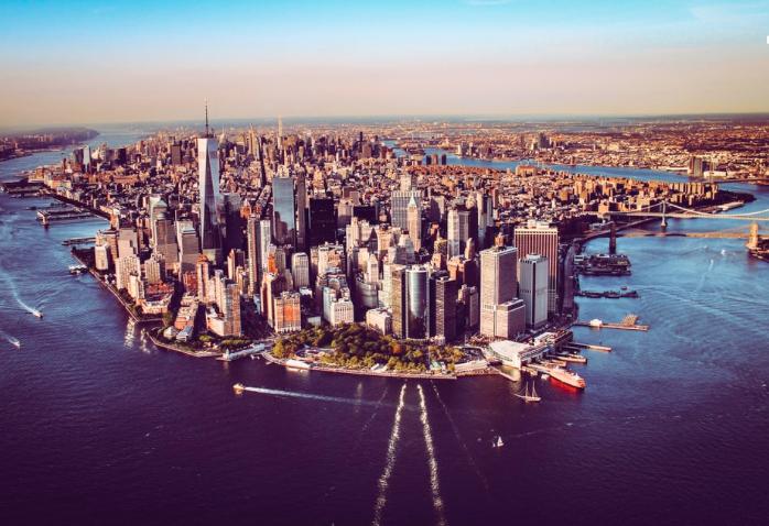 Вертолетный тур в Нью-Йорке, на вертолете без дверей 6